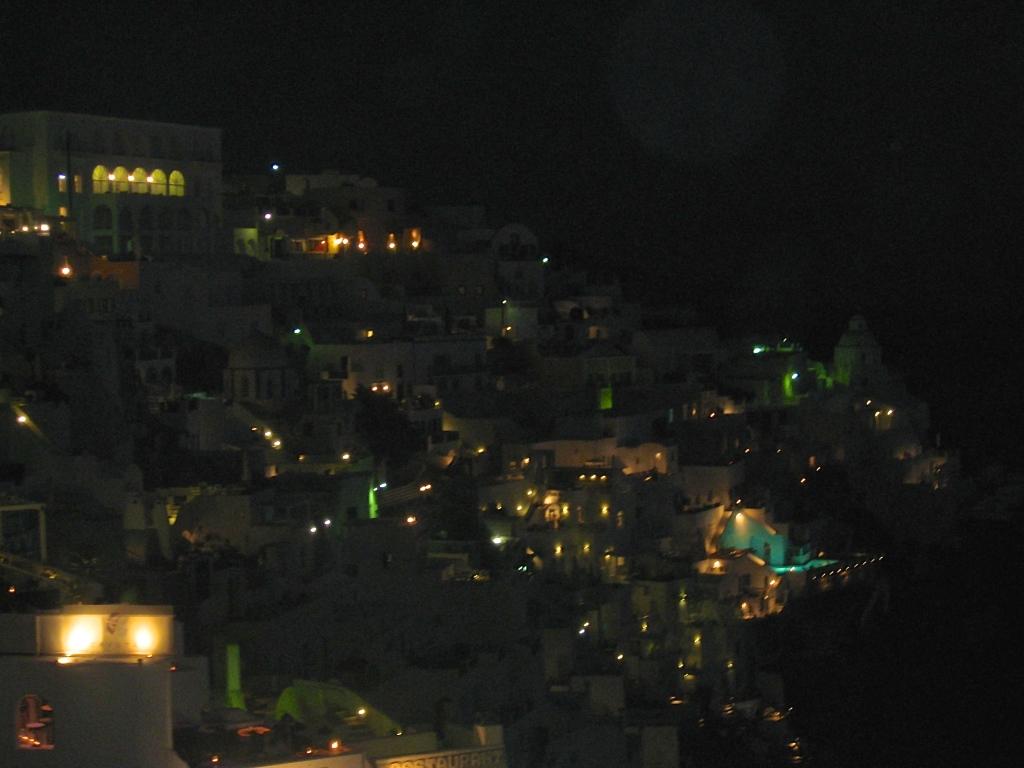 Oia at night