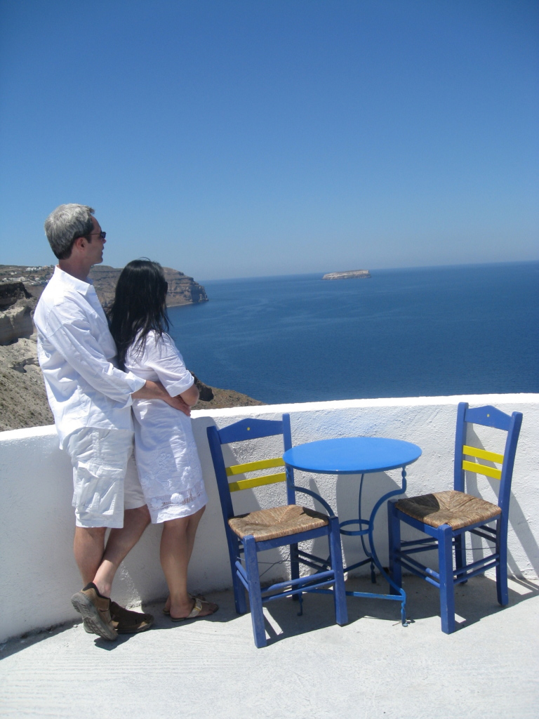 JE in Santorini Greece