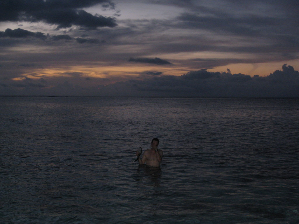 Swimming in Moorea