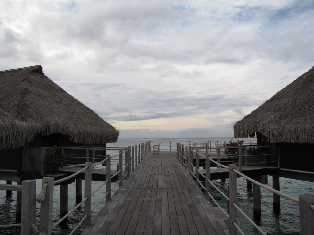 The Hilton bungalows in Mo'orea