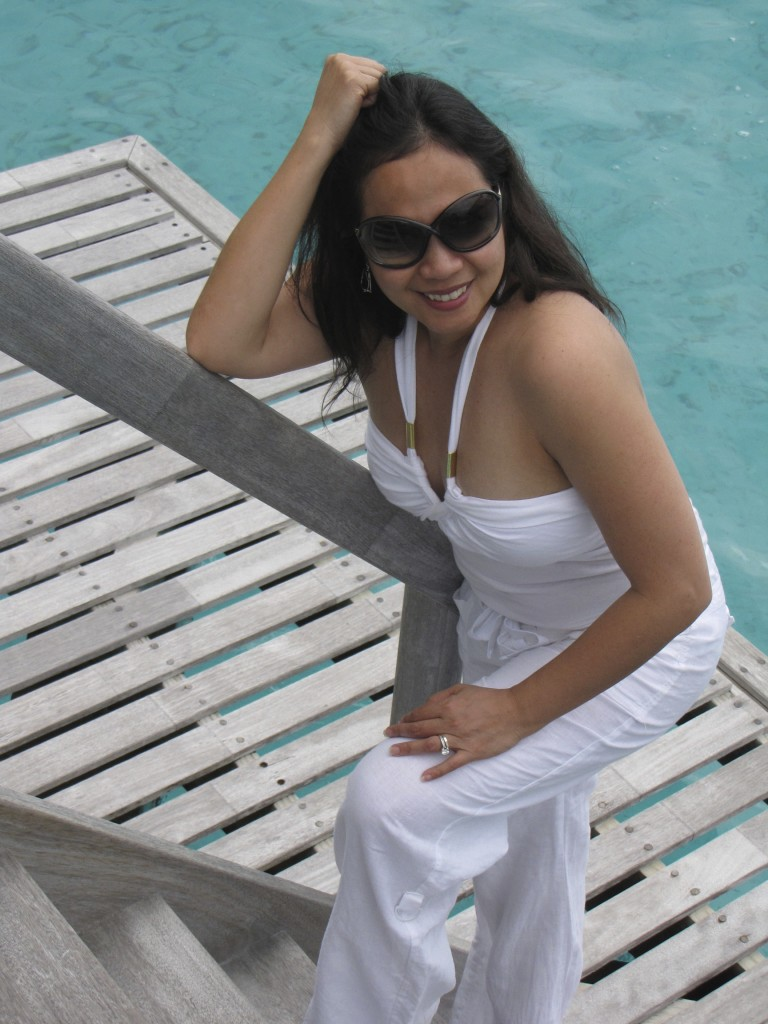 All white in Bora Bora