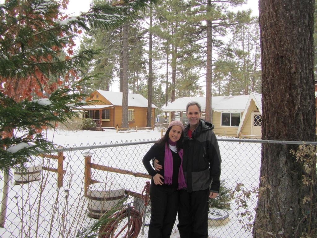 JE in snowy Big Bear