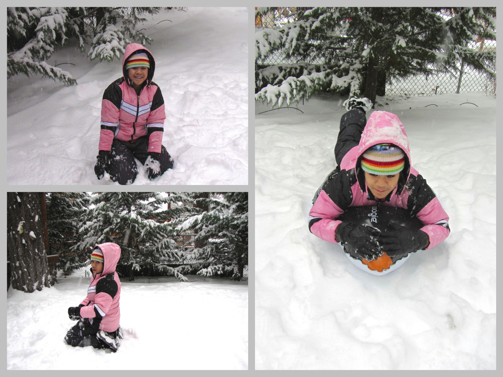 Just having fun playing in the snow