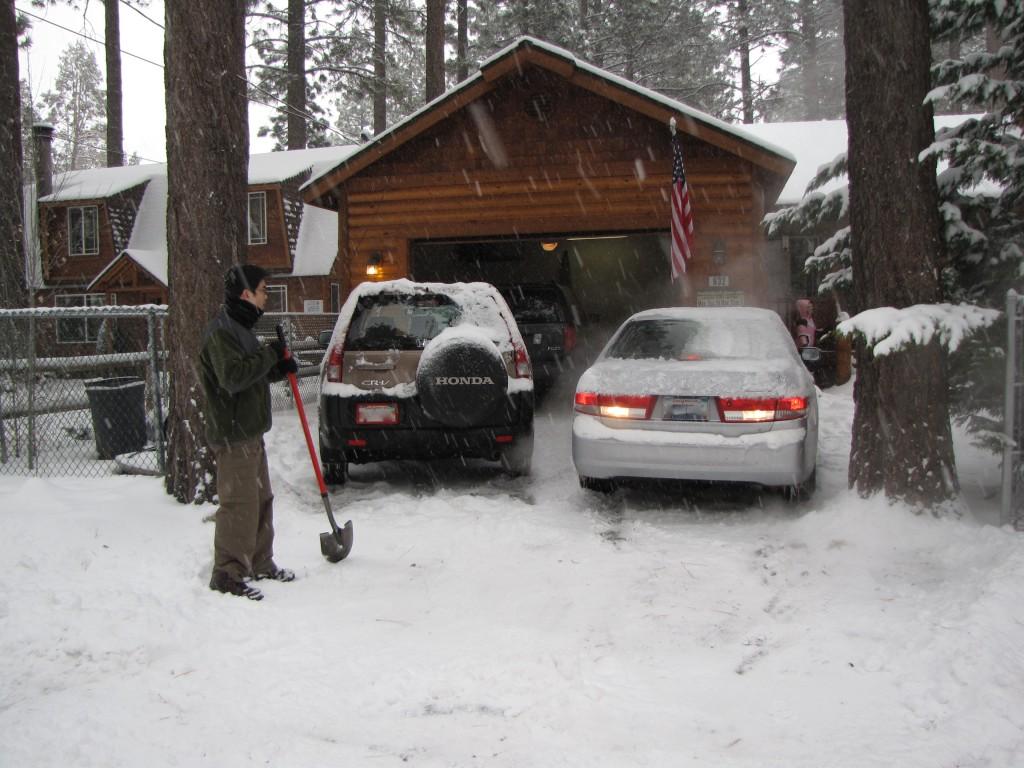 Snowy day in Big Bear, CA