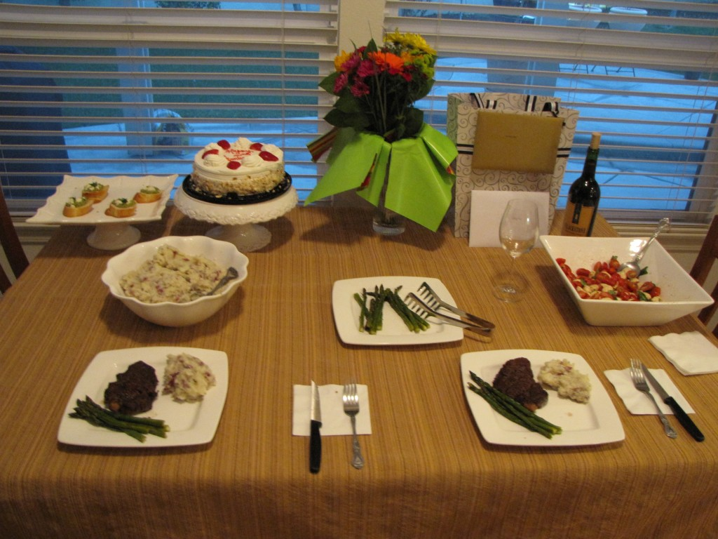 Anniversary dinner @ home