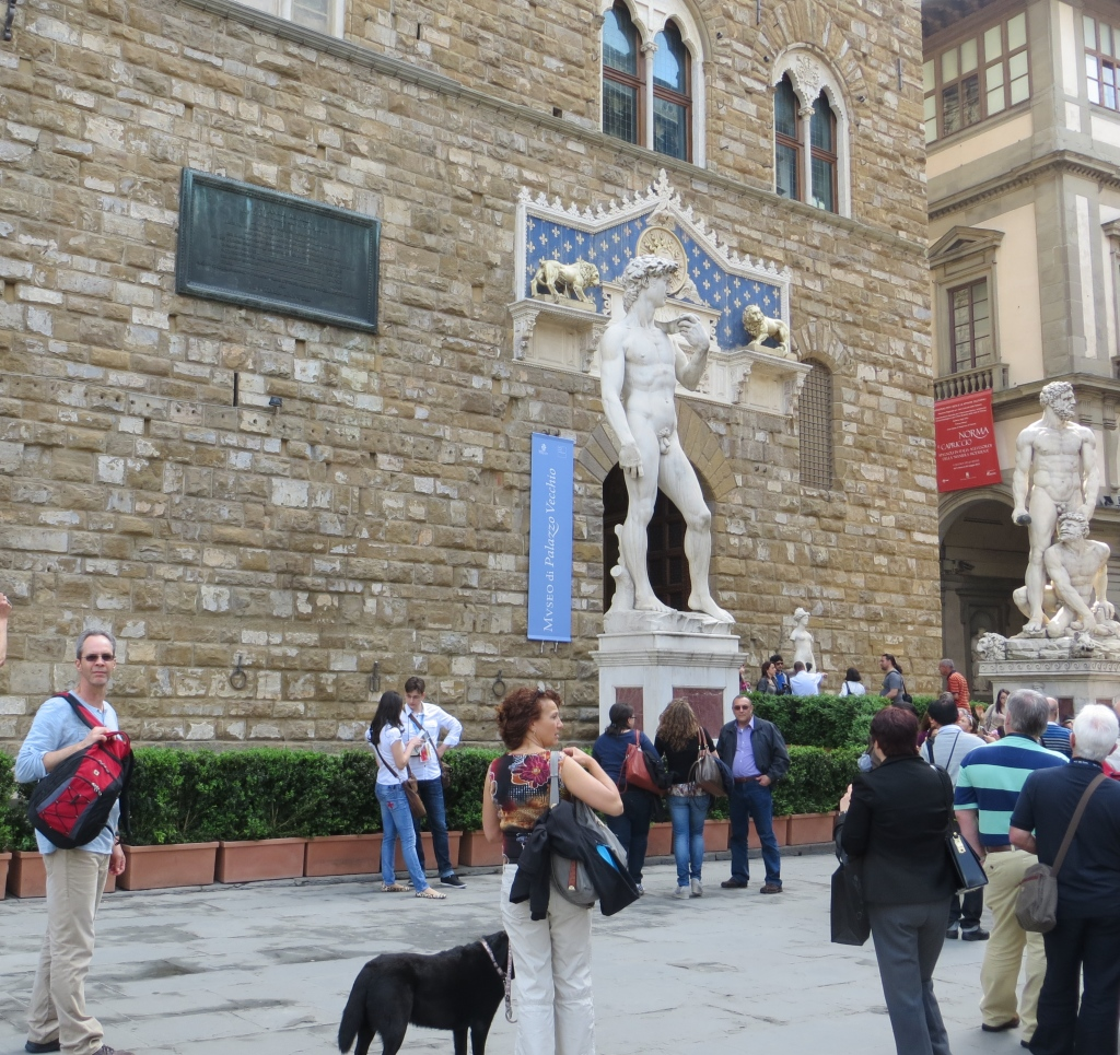 Statues in front of the Palazzo Vecchio