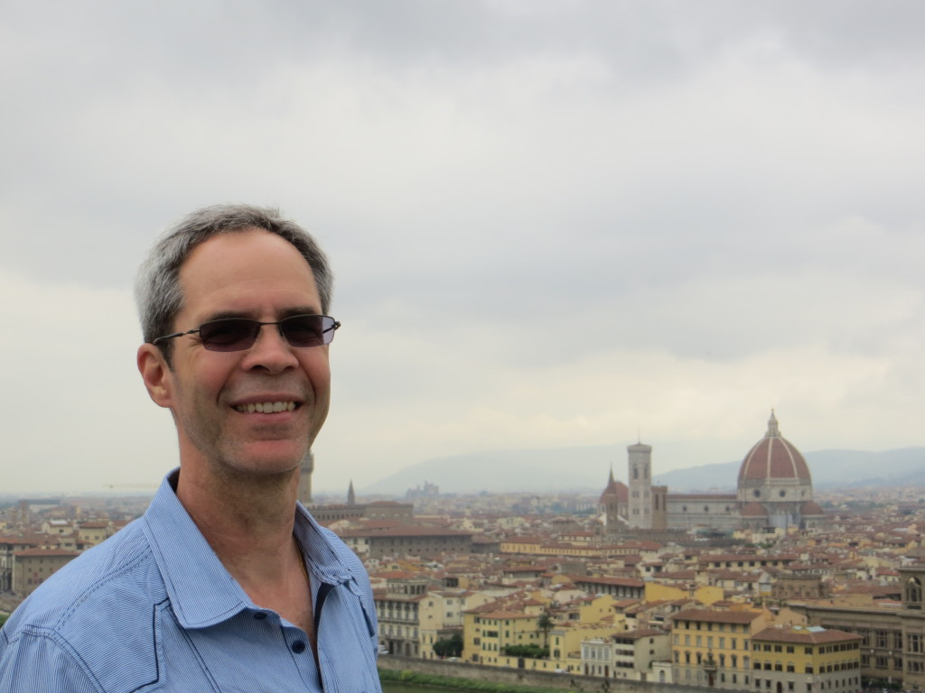 Joe at Piazzale Michelangelo