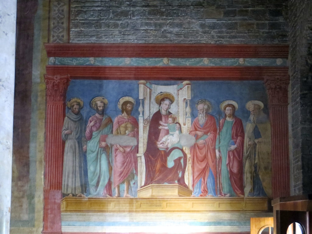 Inside San Miniato church