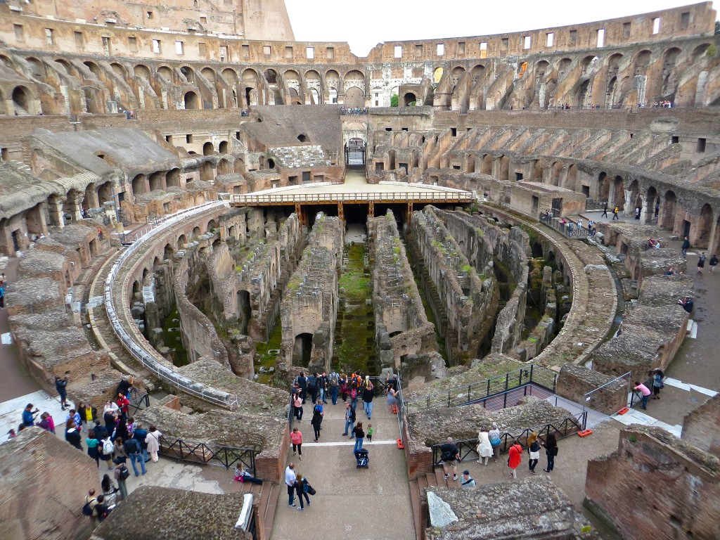 the Colosseum ruins in Rome