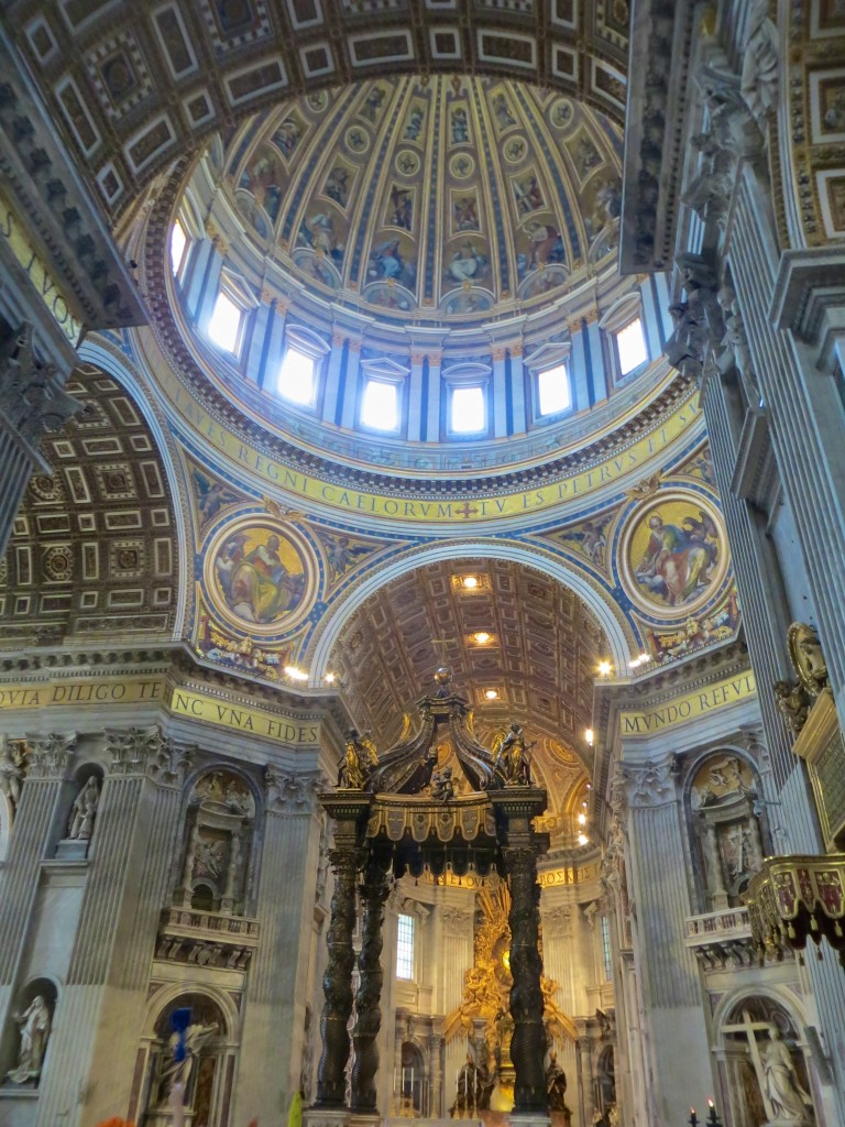 Michelangelo's dome in Saint Peter's Basilica