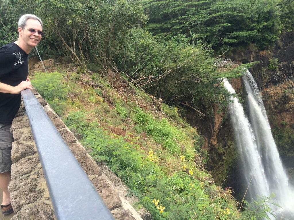 Joe at Wailua Falls