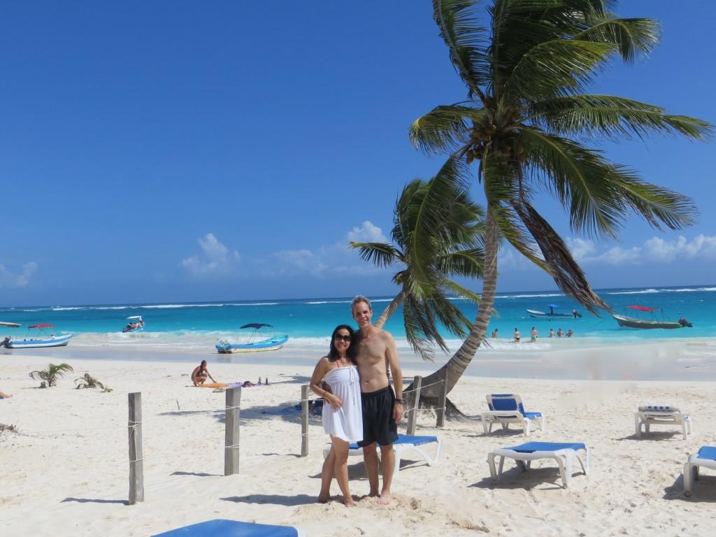 JE in Tulum beach