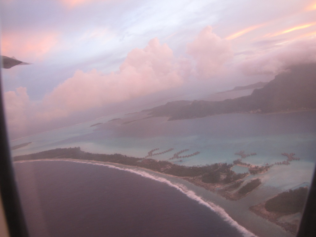 Another view of Bora Bora from the plane