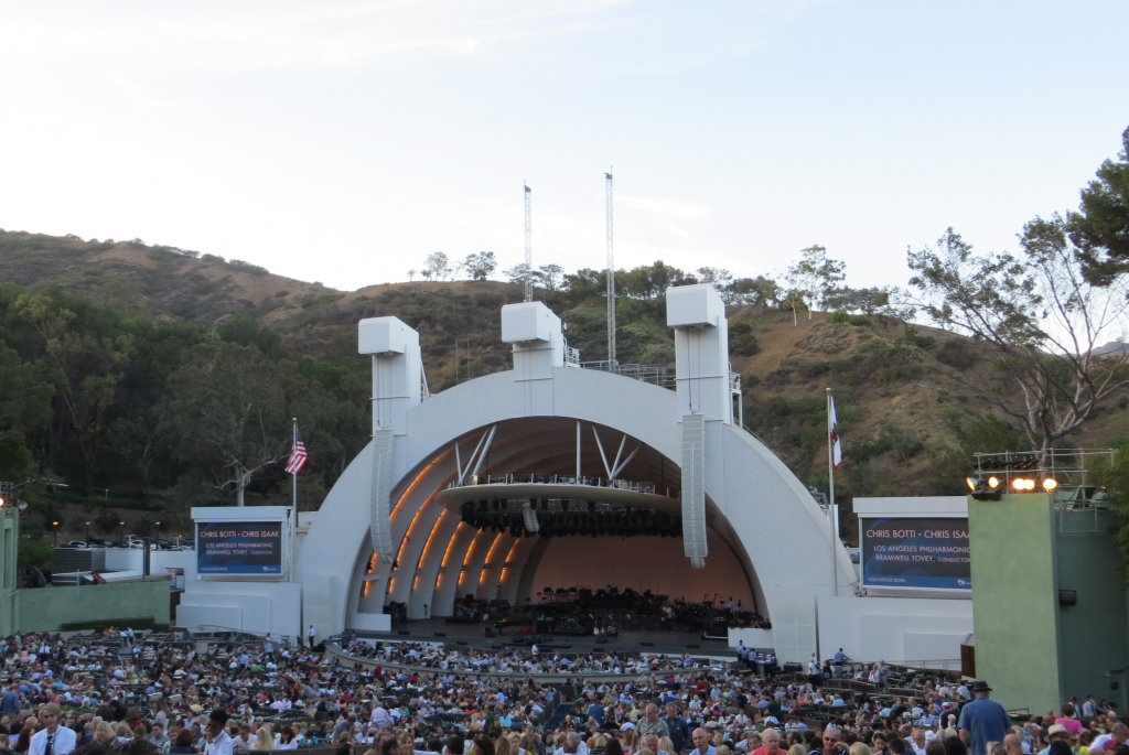 Chris Isaak concert at the Hollywood Bowl