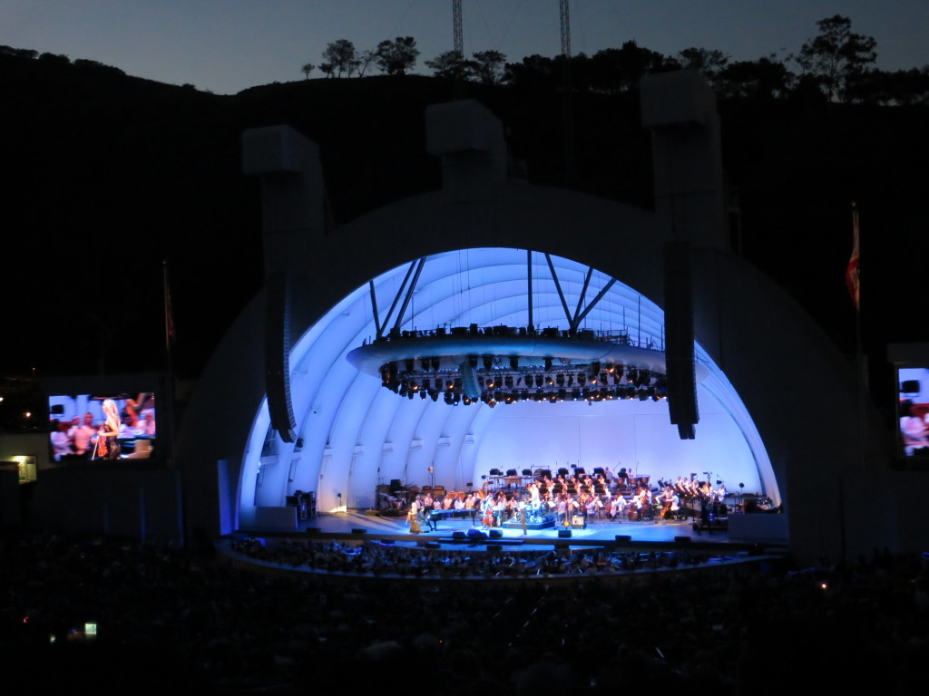 Hollywood Bowl at night
