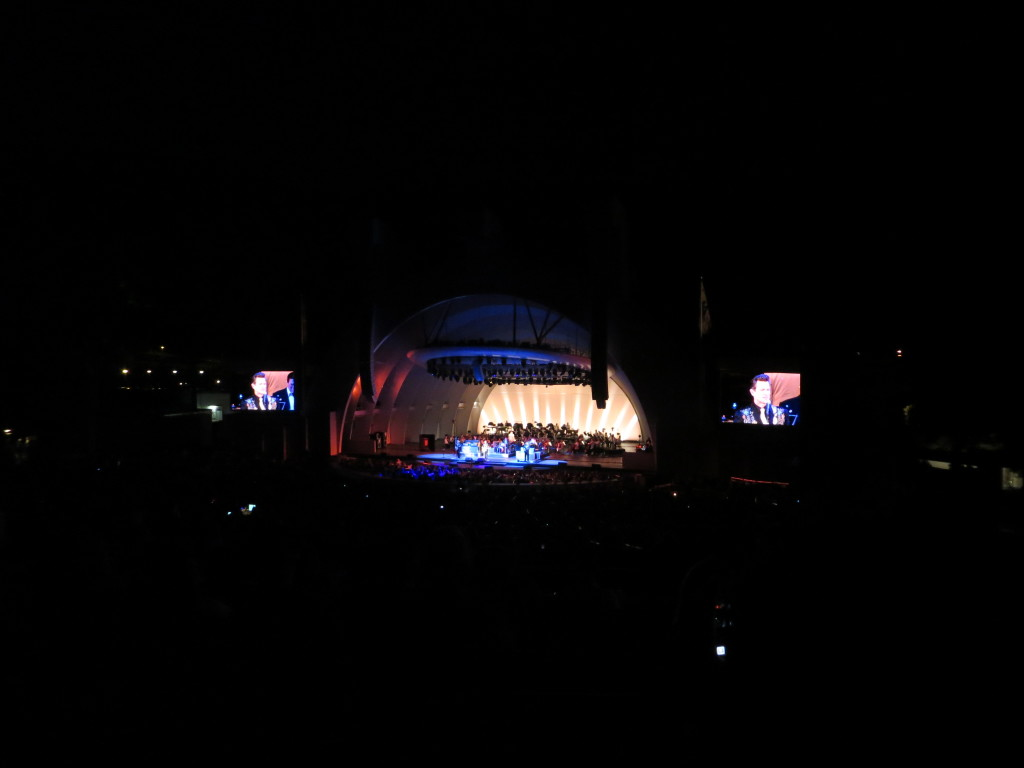 At the Hollywood Bowl concert