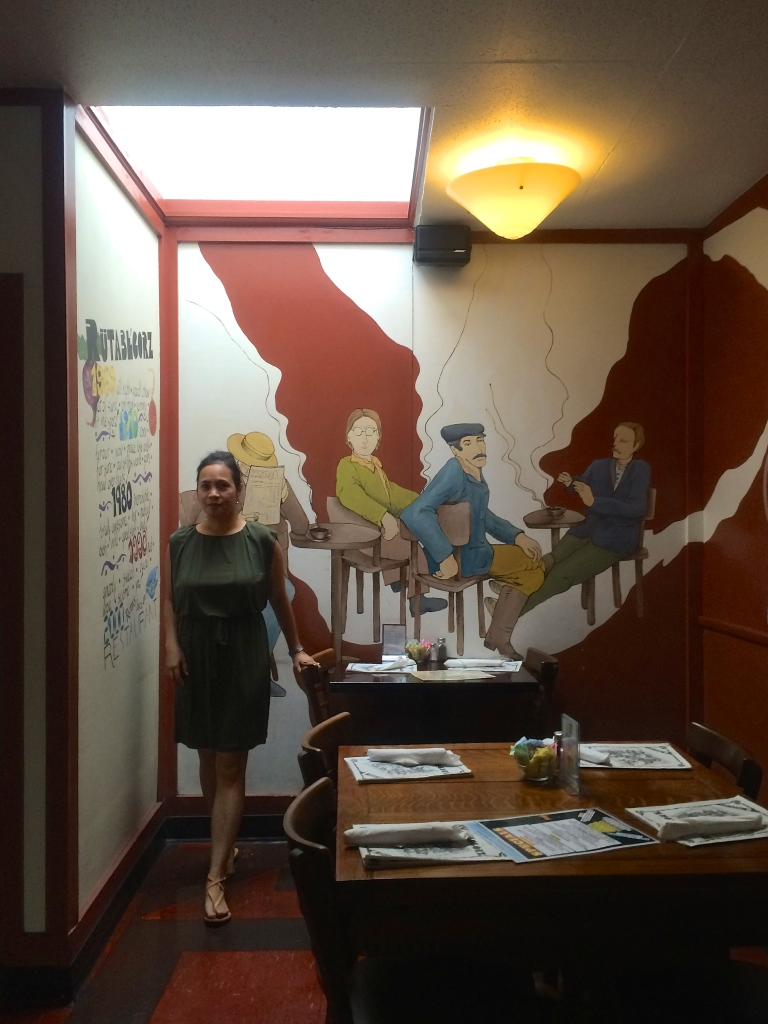 inside Rutabegorz restaurant