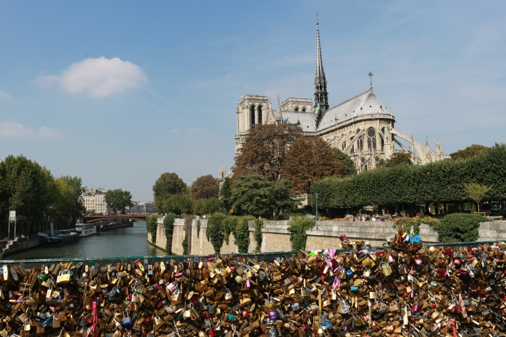 Notre Dame and Love Lock Bridge