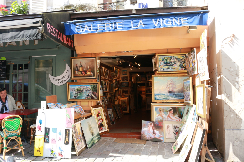 paintings in Monmartre