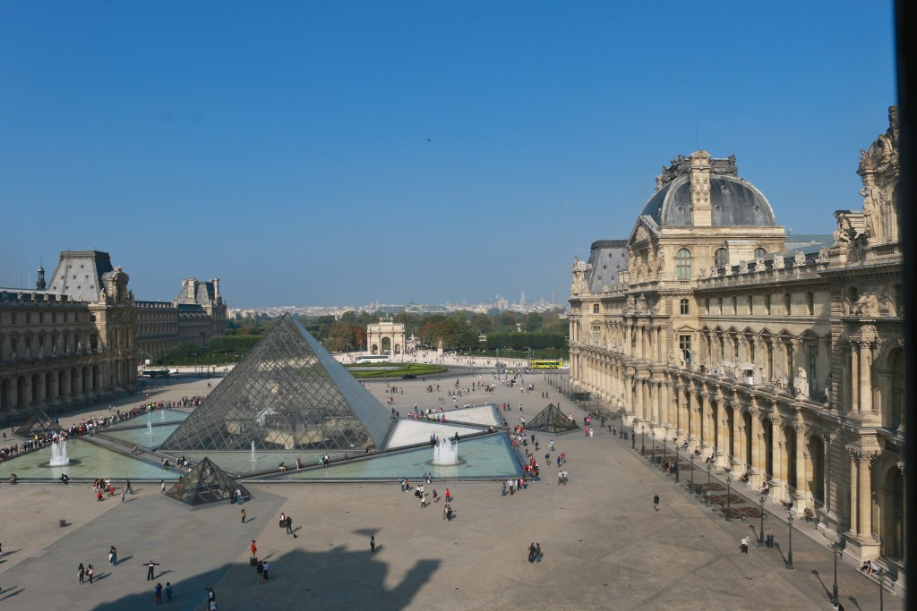 The view inside the Louvre