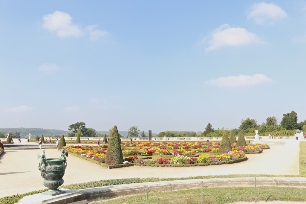 Colorful gardens of Versailles