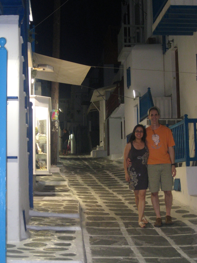Walking in the town of Hora