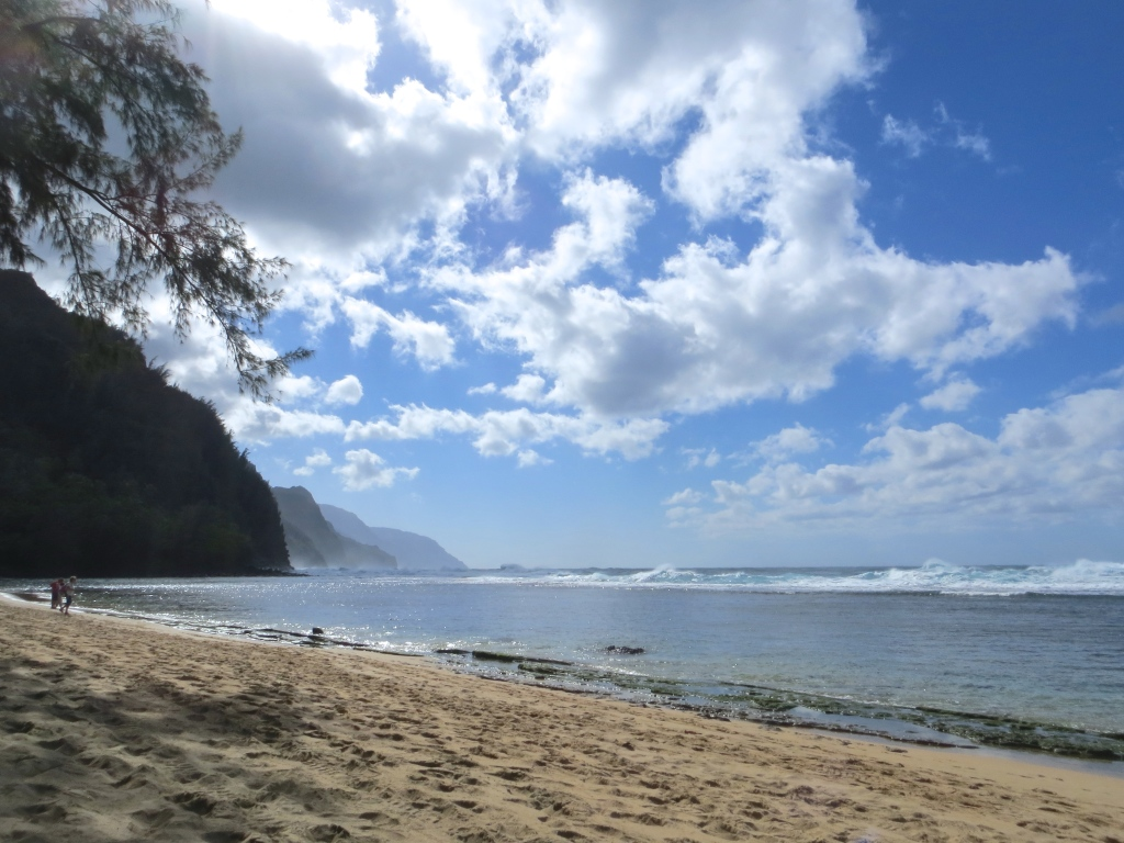 Ke'e beach in Ha'ena Park