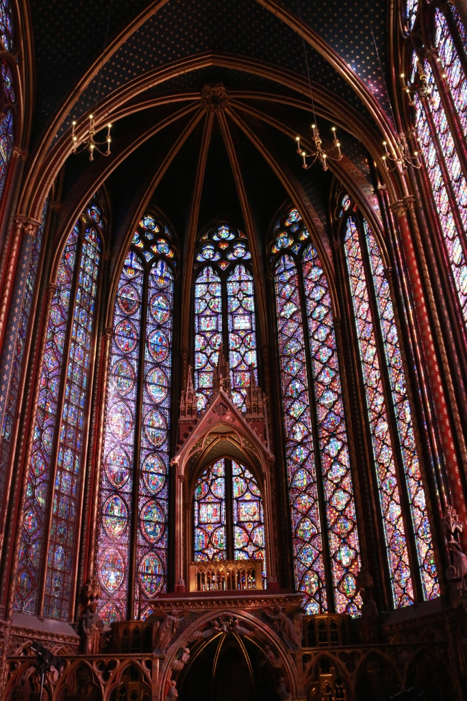 Stained glass windows of St. Chapelle