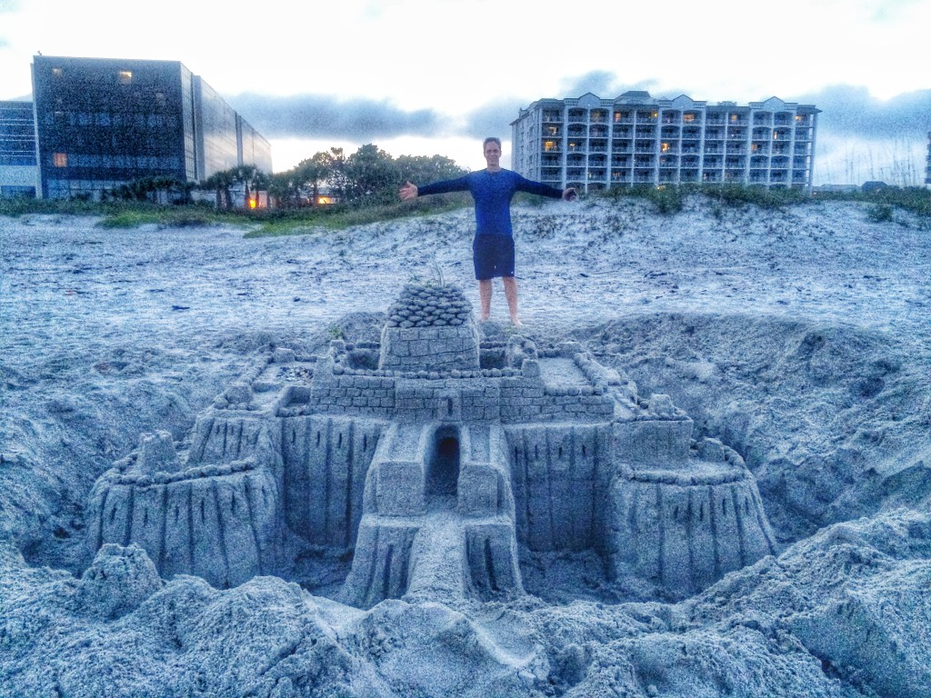King of his sandcastle