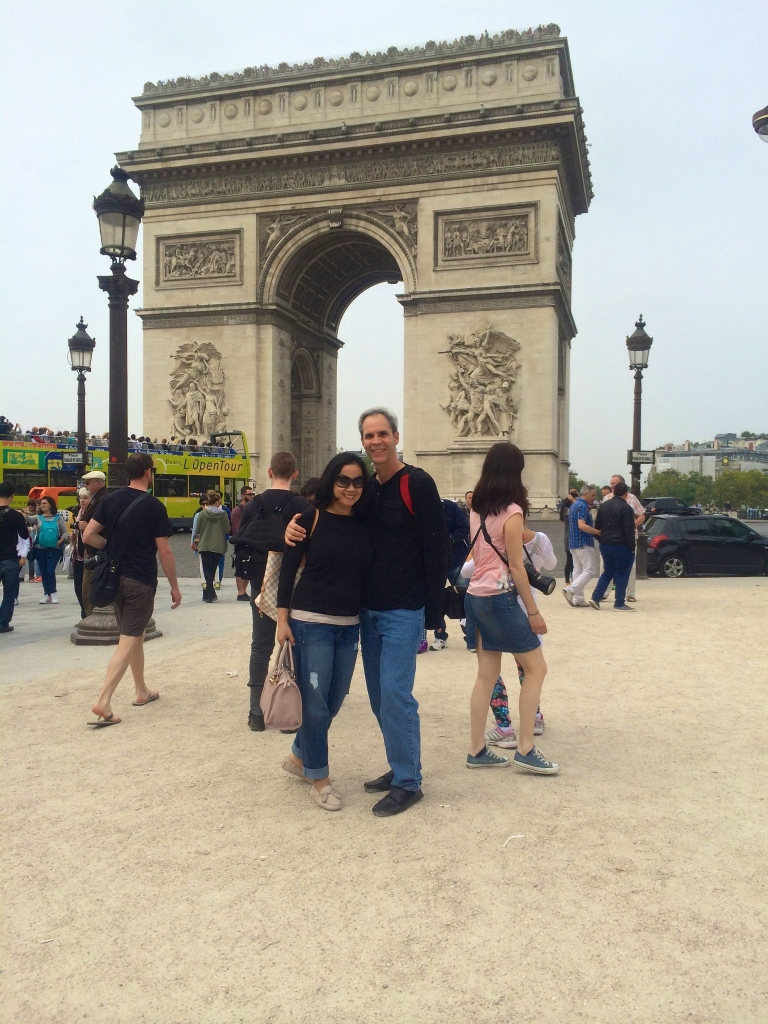 A pose in front of the Arc