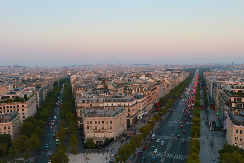 View of Champs-Élysées from the Arc