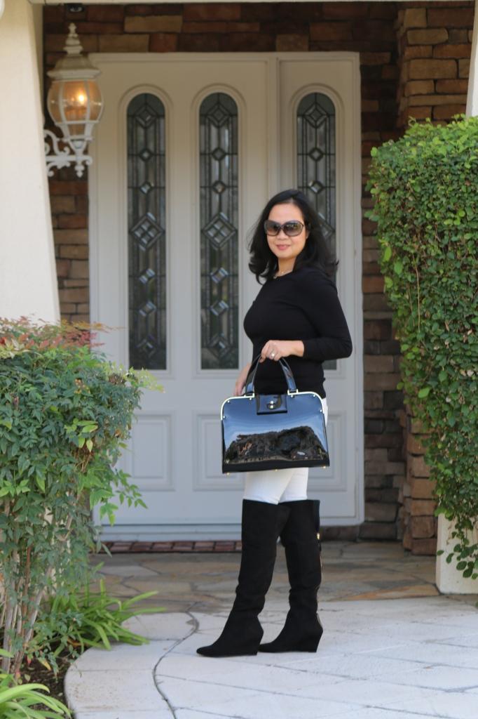 YSL Uptown handbag in black