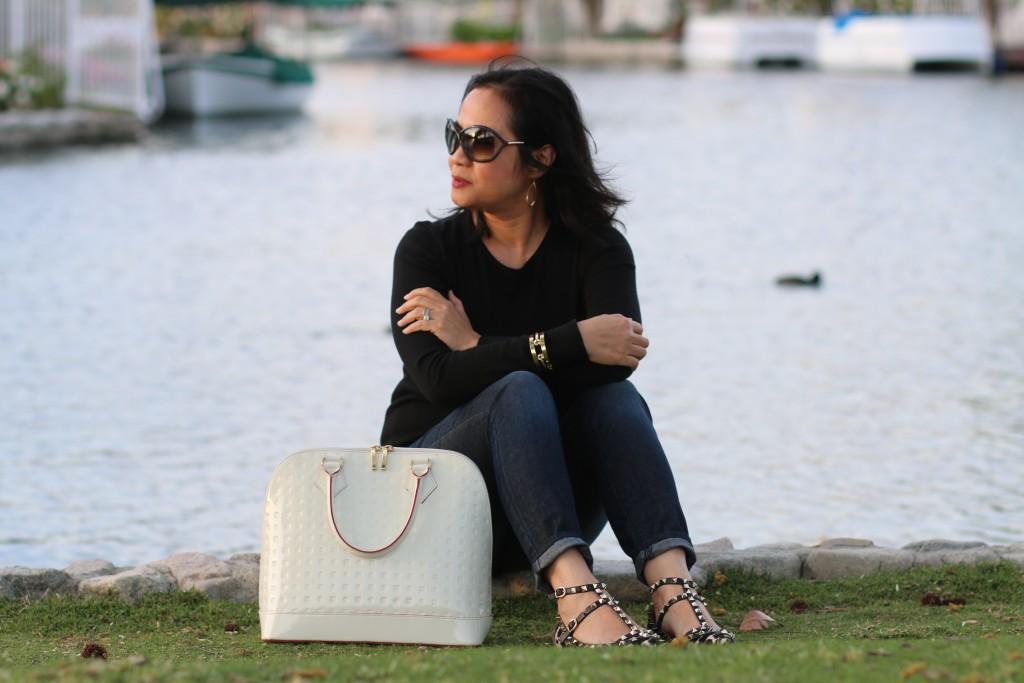 White Arcadia handbag