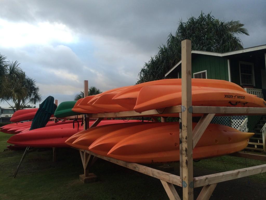 Kayaks on Hanalei River
