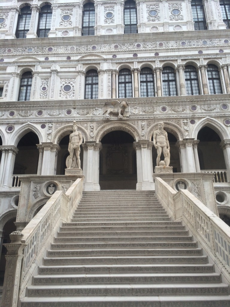 the grand staircase at the Doge's Palace