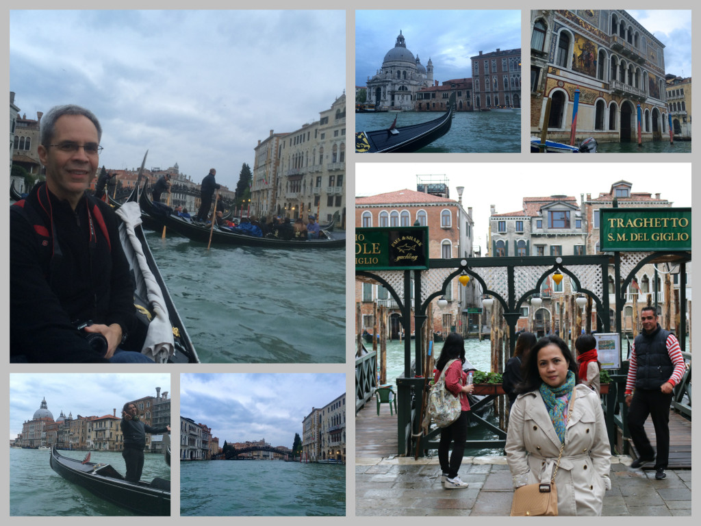 Our gondola ride in Venice