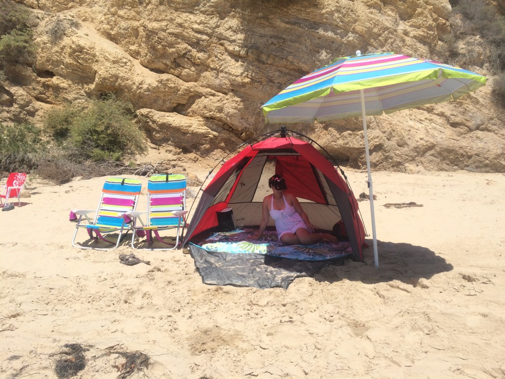 Chillin' in Crystal Cove beach