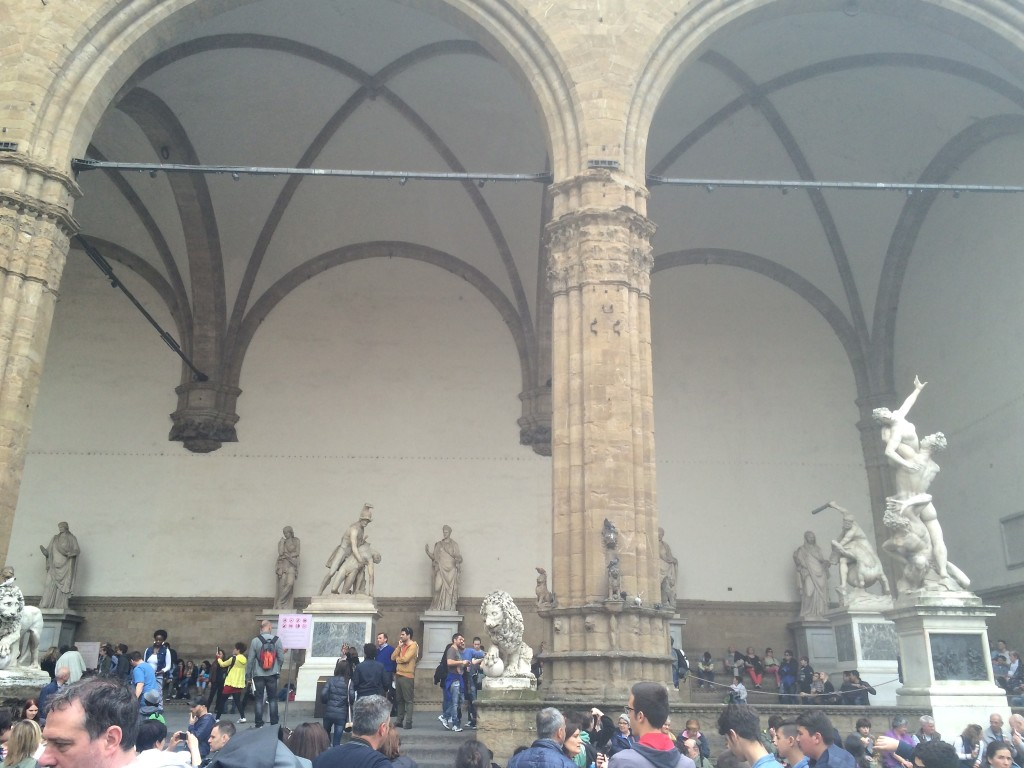 Sculptures at the Loggia dei Lanzi