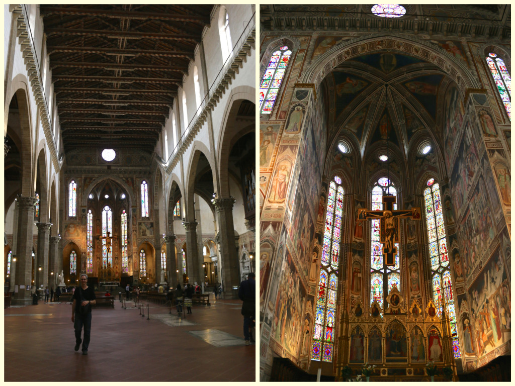 inside Santa Croce church