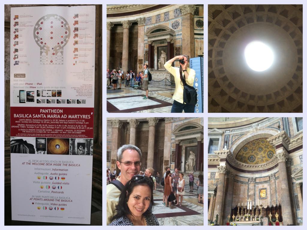 admiring the Pantheon