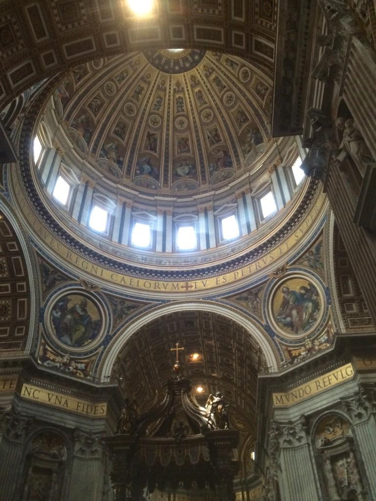 details inside the basilica