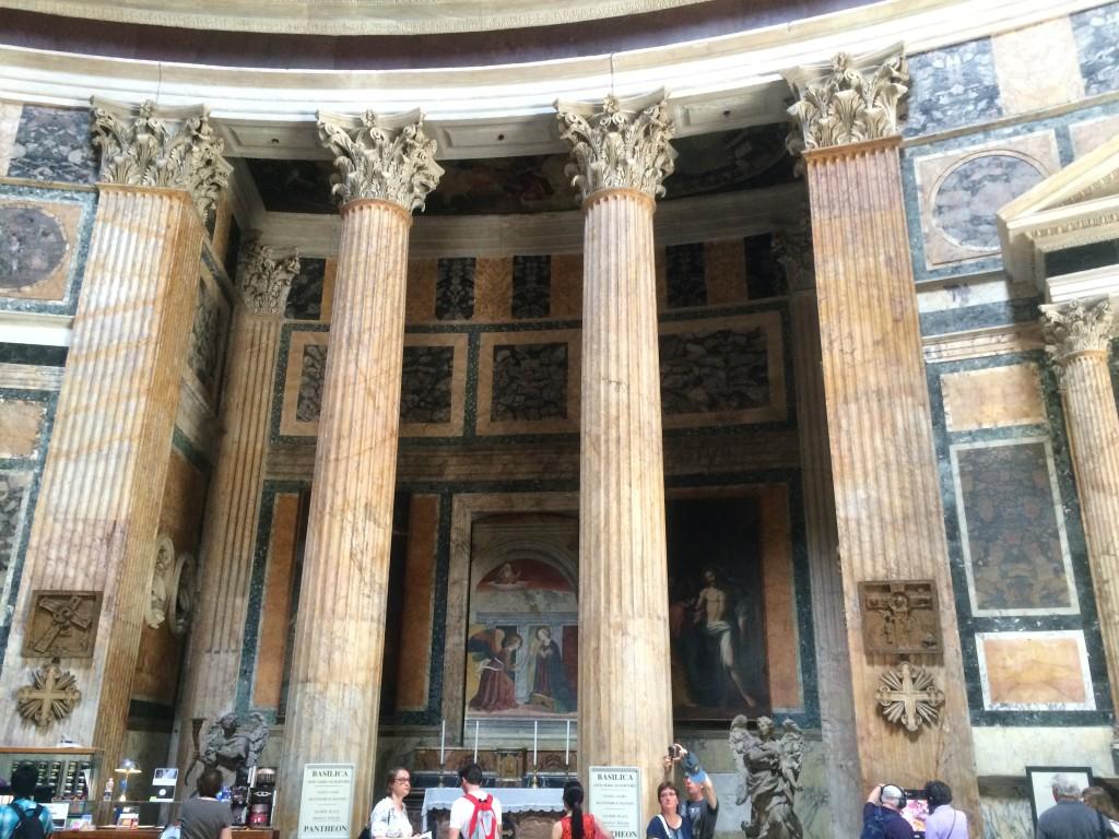 Columns inside the Pantheon