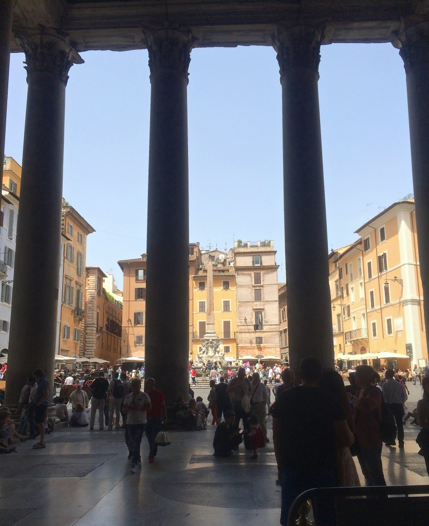 view from inside the Pantheon