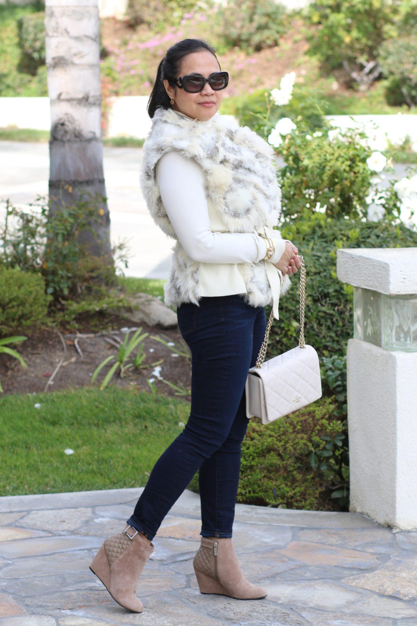 Faux Fur Vest Outfit