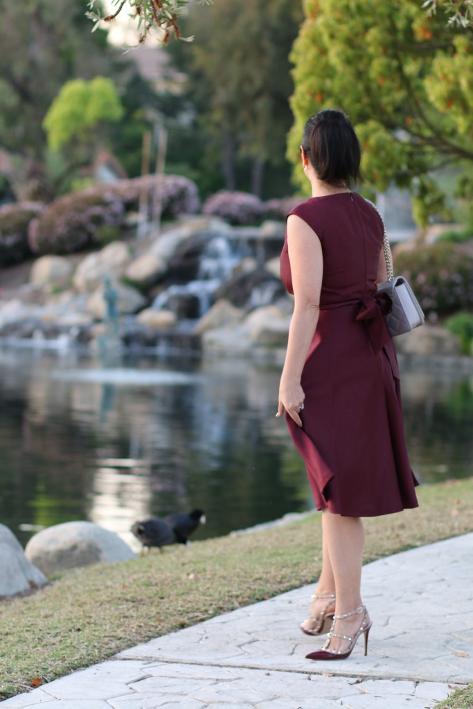 Kasper burgundy dress