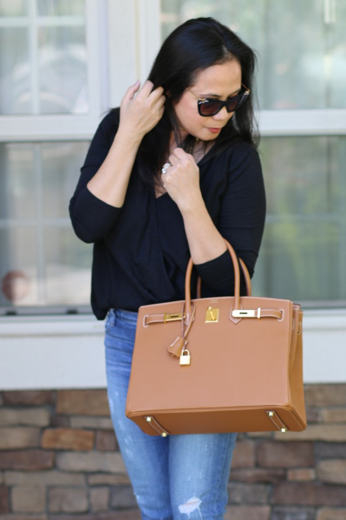 Black and Camel outfit