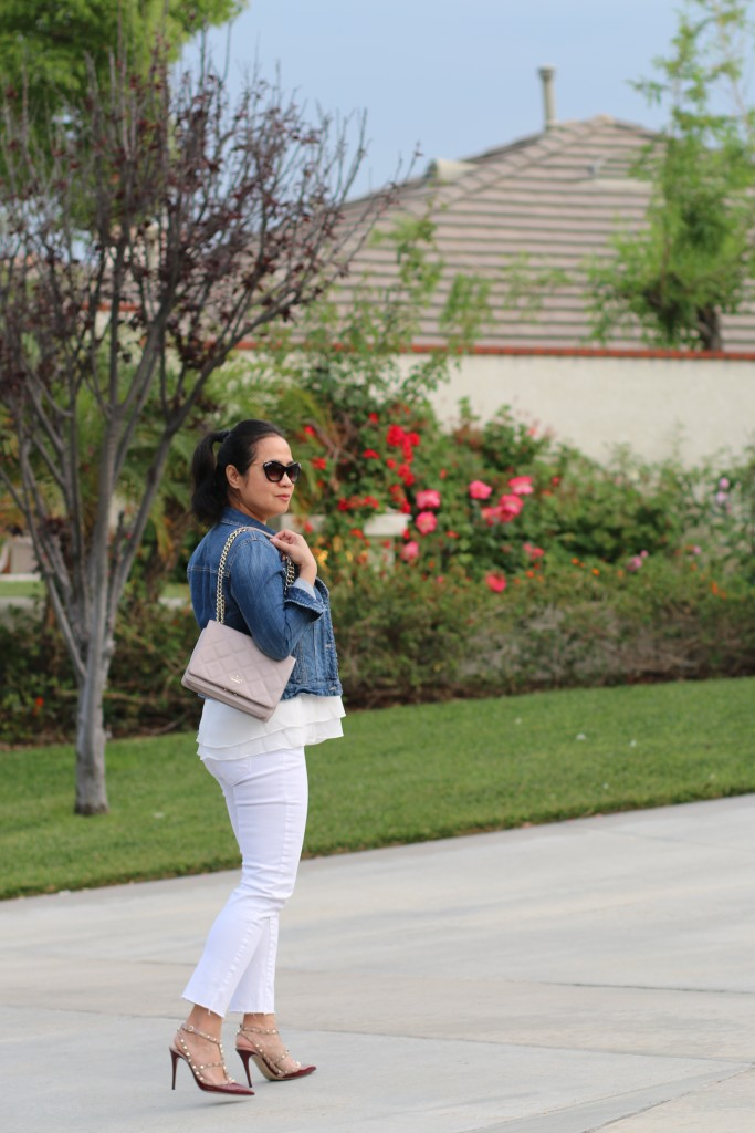 White and Denim outfit