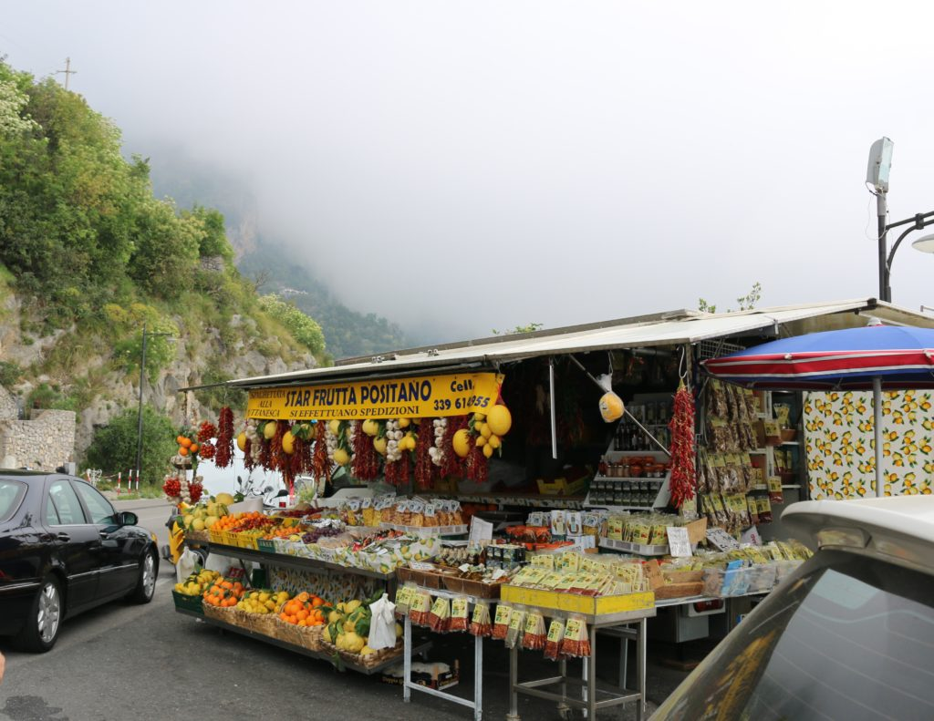 fruit stand in Positano