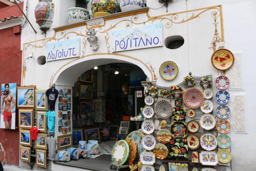 Ceramic store in Positano