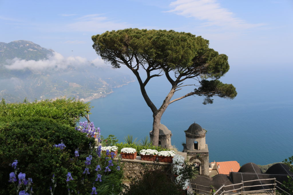 The view from Villa Rufolo in Ravello, Italy